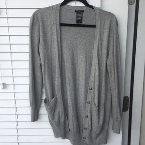 Cashmere grey  cardigan sweater. Great condition.